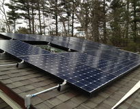 Solar Panels on Deck House in Carlisle, MA