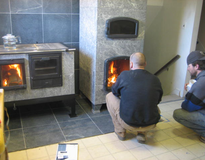 Picture of Soapstone masonry heater with pizza oven, single family residence