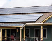 Picture of Solar Panels on an Green Co-housing Community