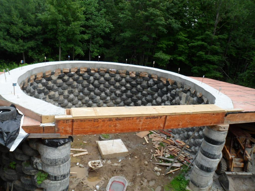 Cronk Earthship Tire House Rammed Earth Passive So on Passive Solar Greenhouse Models