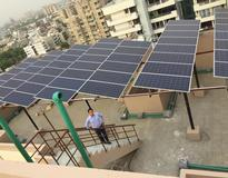 Picture of Kenbrook solar installed 20kW solar power plant in Gurgaon, Delhi India.