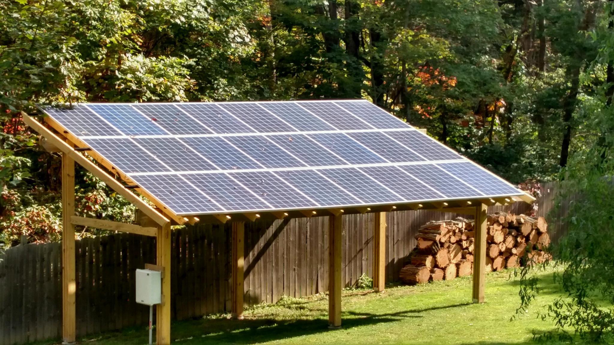 Diy Grid Tied Solar Pergola Energysage
