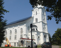 Picture of South Church in Andover Solar PV System