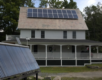 Enfield, NH, Zero Energy Home - solar heating