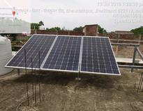 1 kW Off Grid Solar System Installation in Bhawnathpur, Garhwa (Jharkhand)