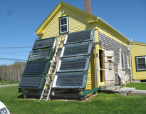 Solar hot water system at a farm in Maine