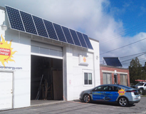 Picture of Solar PV Array and EV Car Charging Station
