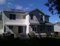 Picture of Solar Electricity in Suburban Home