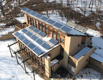 picture of HELIOS Zero-Net-Energy Home in Lafayette, NJ -  Solar PV, Solar Thermal, Passive Solar