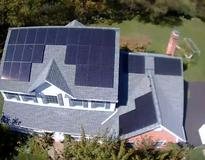 picture of 34 panel LG320 residential roof installation in Eastern PA
