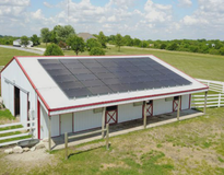 picture of Metal Barn Solar Array