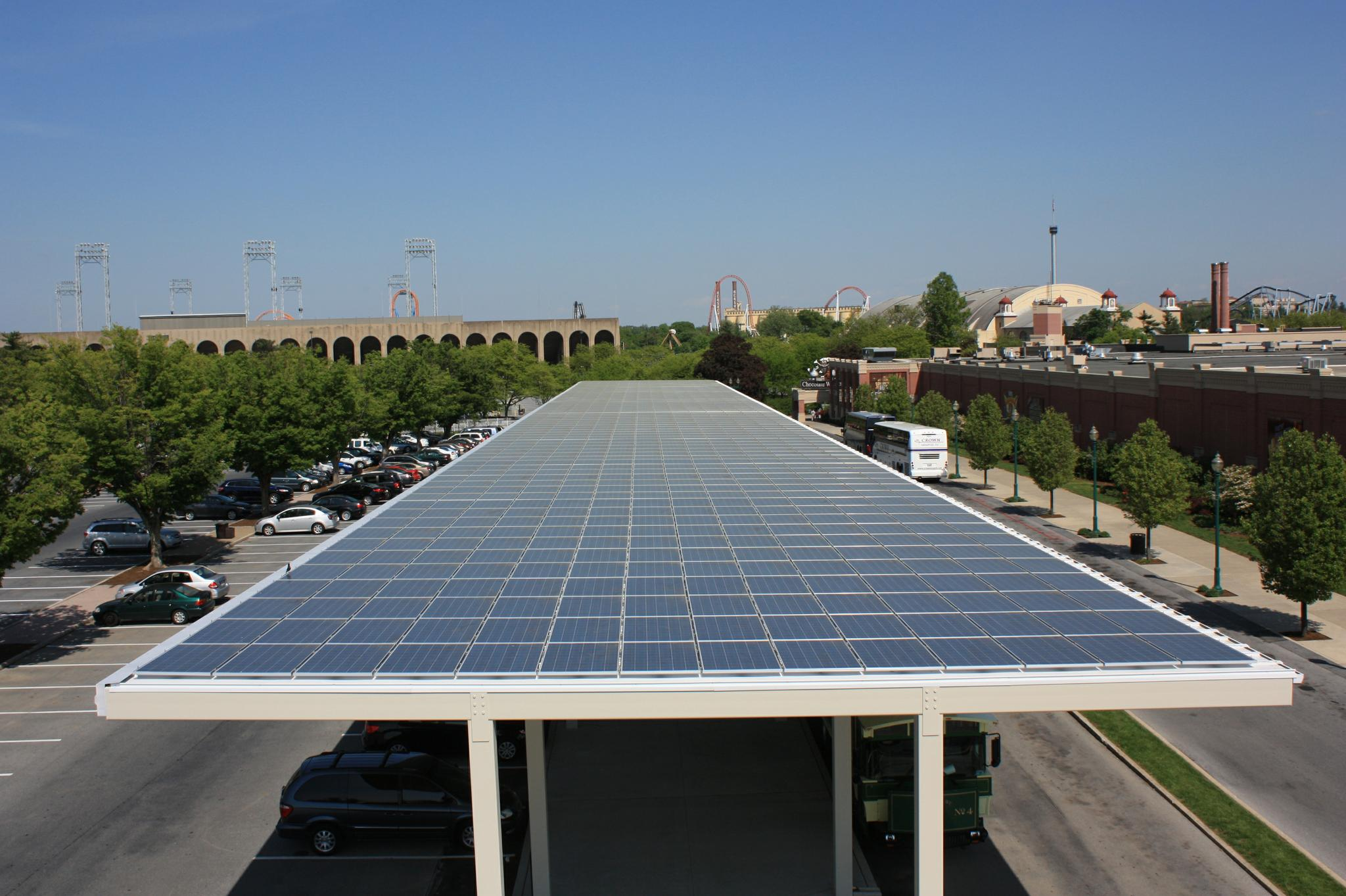 Hershey Chocolate World Solar PV Canopy-Our Original Design & Hershey Chocolate World Solar Canopy | EnergySage