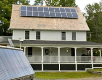 Enfield, NH, Zero Energy Building, Solar hot water