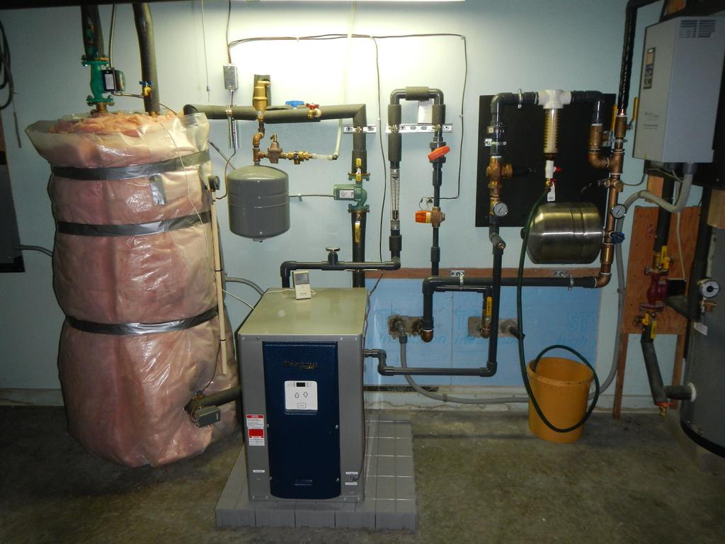 geothermal radiant floor heat - retrofit - sanbornton - nh
