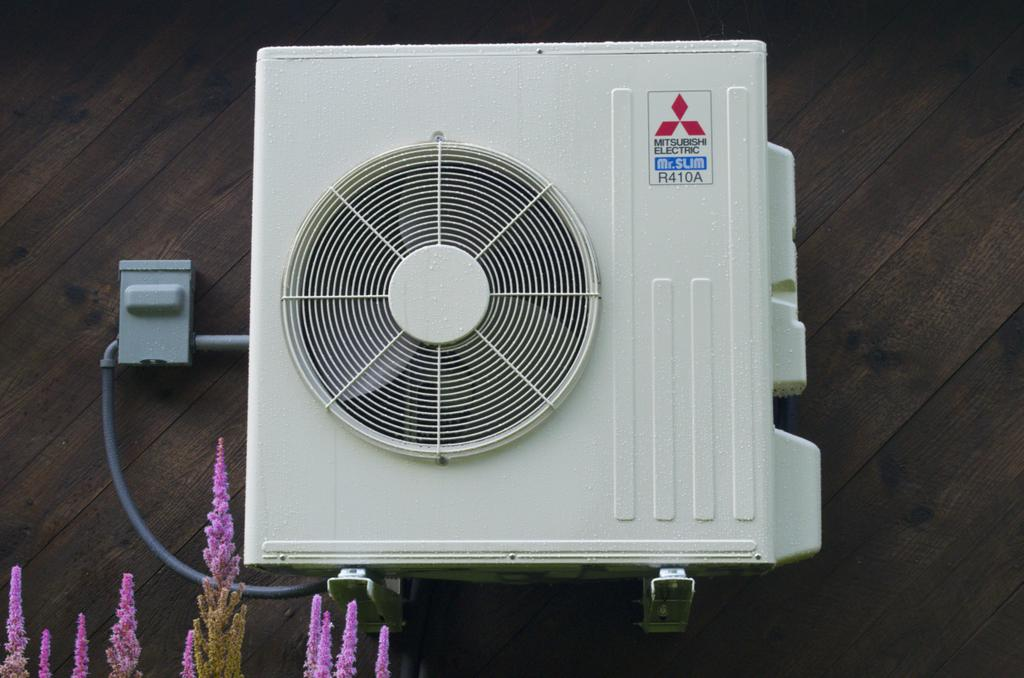 A Mitsubishi Ductless Mini Split Heat Pump To Be Used For Back Up Heat And  Air Conditioning When Needed.
