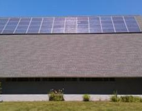 Solar panel installation at St. Paul's, Hopkinton MA