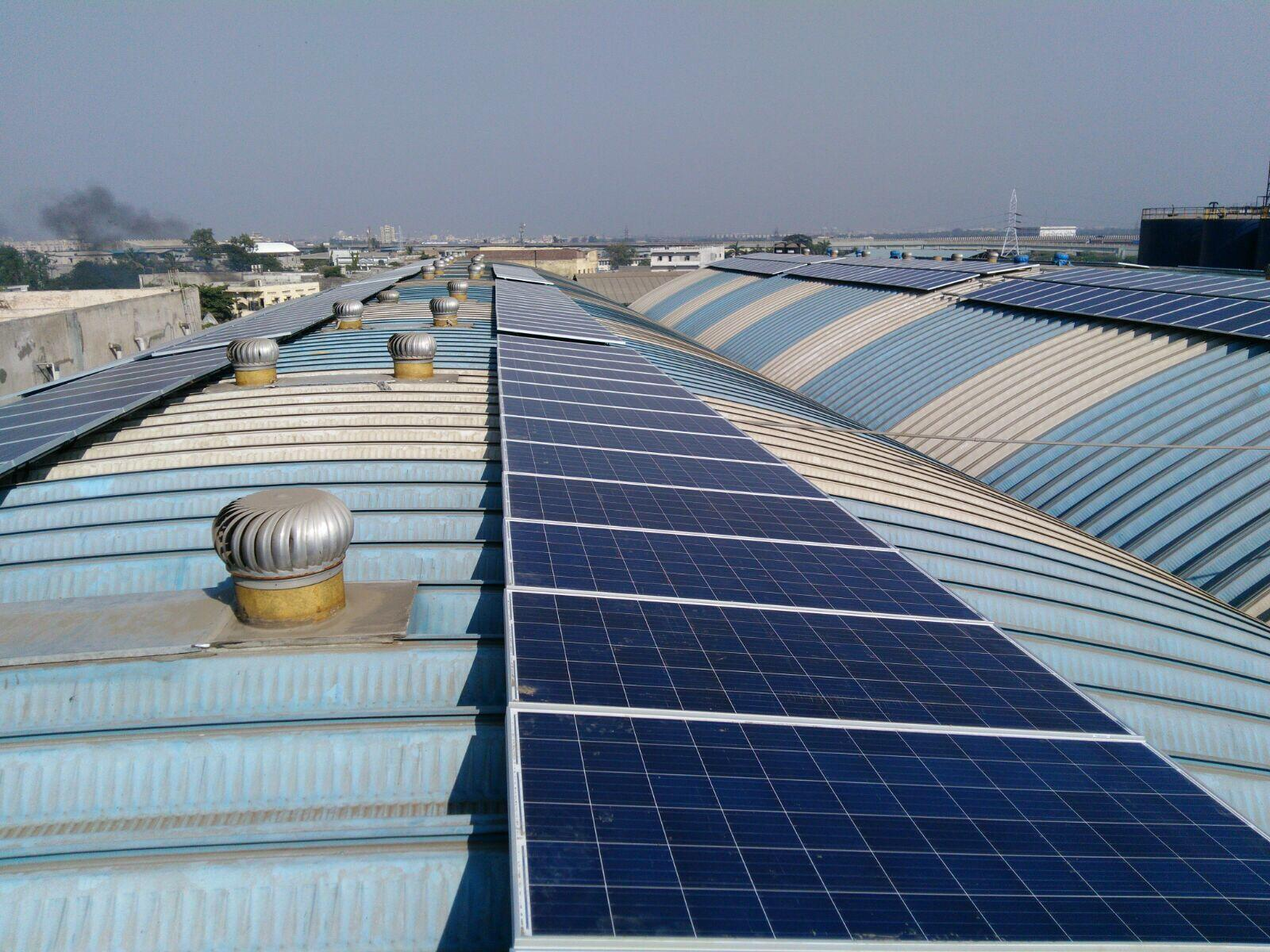 A 300 KWp Rooftop Solar Implementing One Of A Kind, Non Penetrative  Mounting Solution Developed For A Curved Industrial Roof
