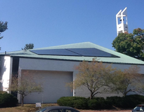 picture of Solar PV on church