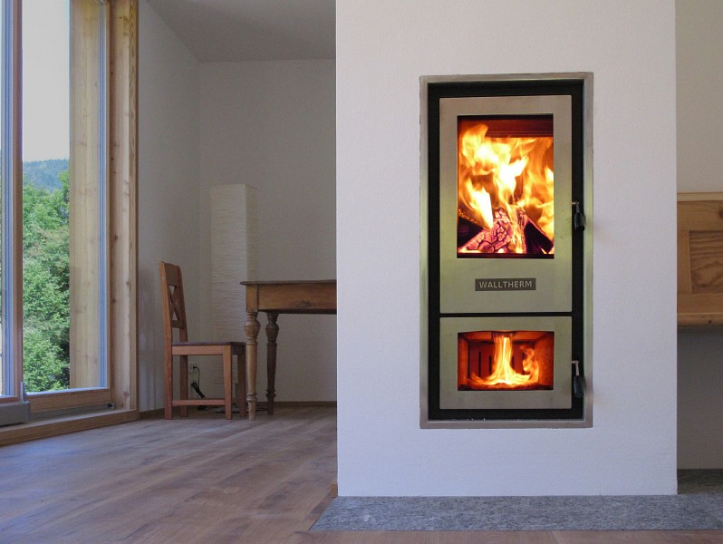 Walltherm living room style wood gasification boiler | EnergySage