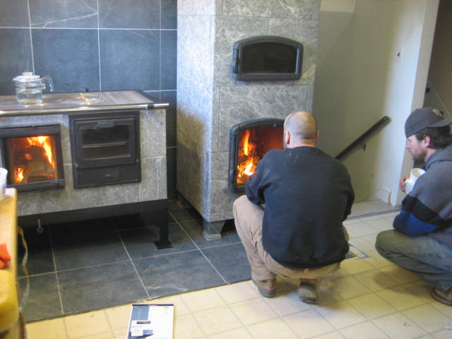 Soapstone Masonry Heater With Pizza Oven Single Family