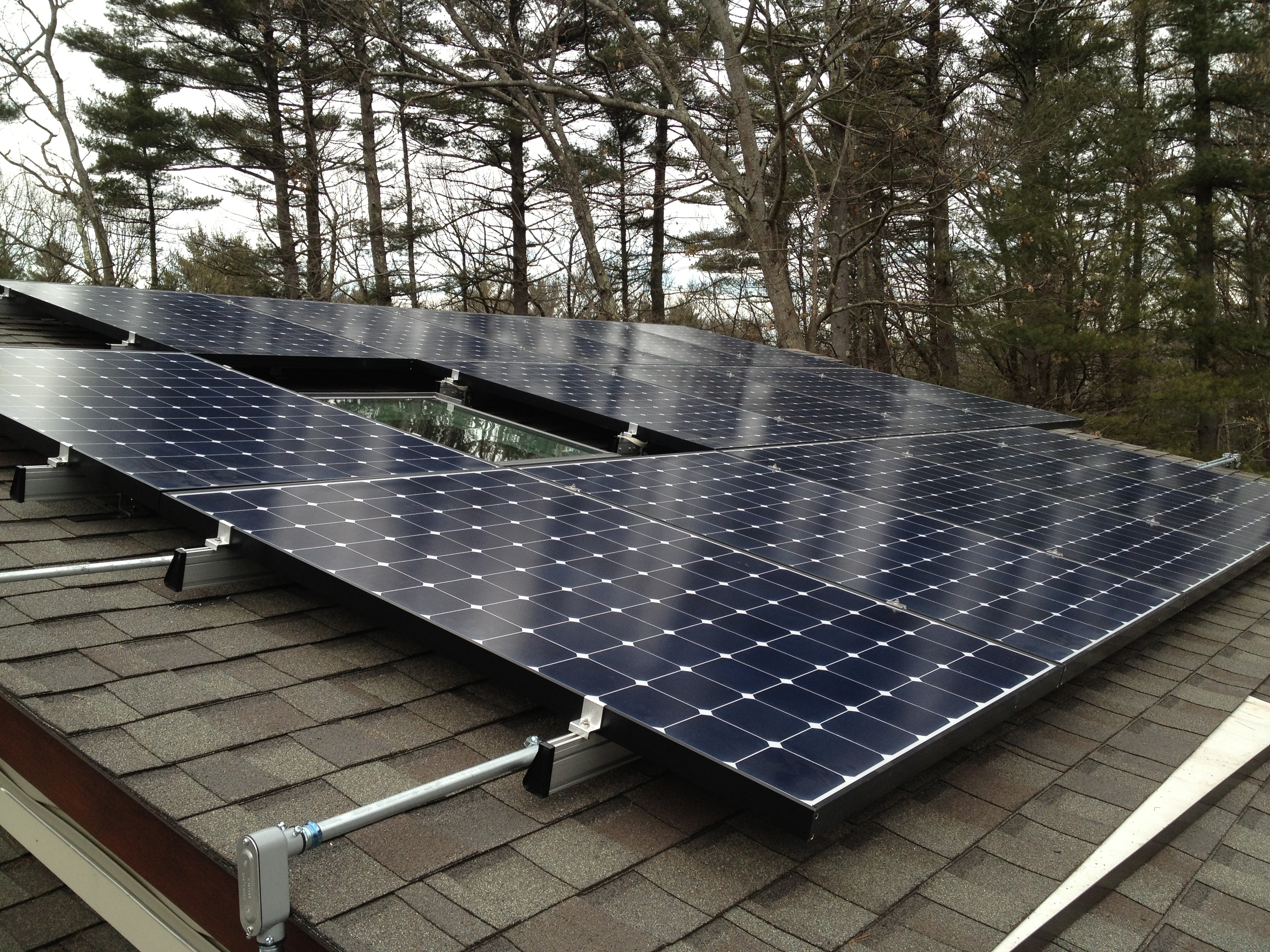 Solar Panels On Deck House In Carlisle Ma Energysage