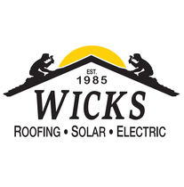 Wicks Roofing and Solar logo