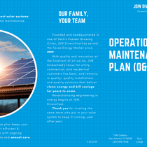 Our Operations & Maintenance Plan (pg.1)