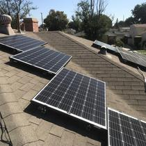 2 CA Solar Company Solar system installed on a pitched roof in Santa Monica