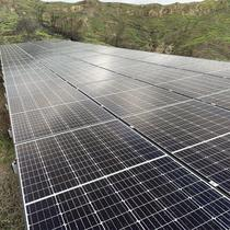 Ground Mounted solar panels installed in open space