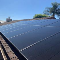 4 Solar Granada Hills Solar system installation on a shingle roof