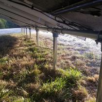 Solar Array Framing Close Up