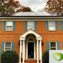 colonial style home solar
