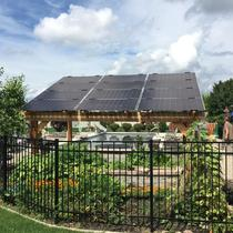 Custom Solar Pergola with Sunpreme 360W modules