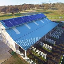 QCell solar panels on Agricultural Solar