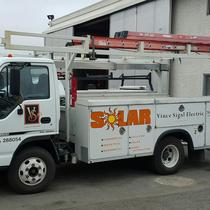 One of our solar trucks