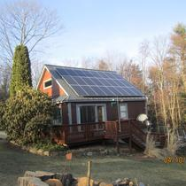PV array on standing seam