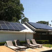SunPower on Pool House