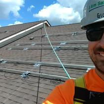 It might be scorching hot outside on a rooftop, but, safety never takes a holiday.