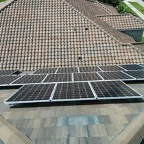 PV Installation on a flat tile roof