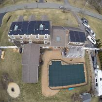 10.54kW Silfab 310w System in Bridgewater MA Rubber roof Shingle roof combo