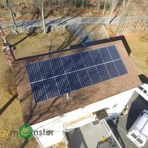 4.95kW Canadian Solar 275w Monocrystalline install in Millbury MA — in Millbury, Massachusetts.