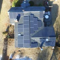 7.70kW Canadian Solar 275w Monocrystalline install in Framingham MA. This was also done on a rubber roof pitched less than 10 degrees.