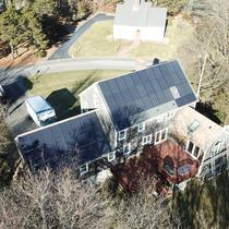Residential PV Drone Photo