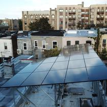 Solar installed on a canopy in Bronx, NY