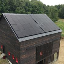 SunPower panels on reconstructed barn.