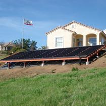 Solaire installs ground mounts as well as roof systems.