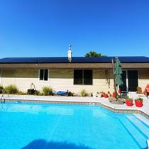 Solar Pool Heat Completed Project