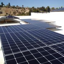 10.56kW flat roof residential solar in Bel Air, CA