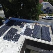 A little bit of shade, as the day goes by, can be OK. But you need direct sunlight... to make energy from the sun. -2016, Sunnyvale, CA. LG Electronics solar panels. SolarEdge inverter. SolarEdge DC optimizer.