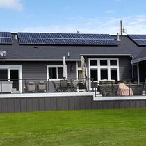 Camano house facing golf course